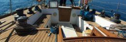small ocean sailboats